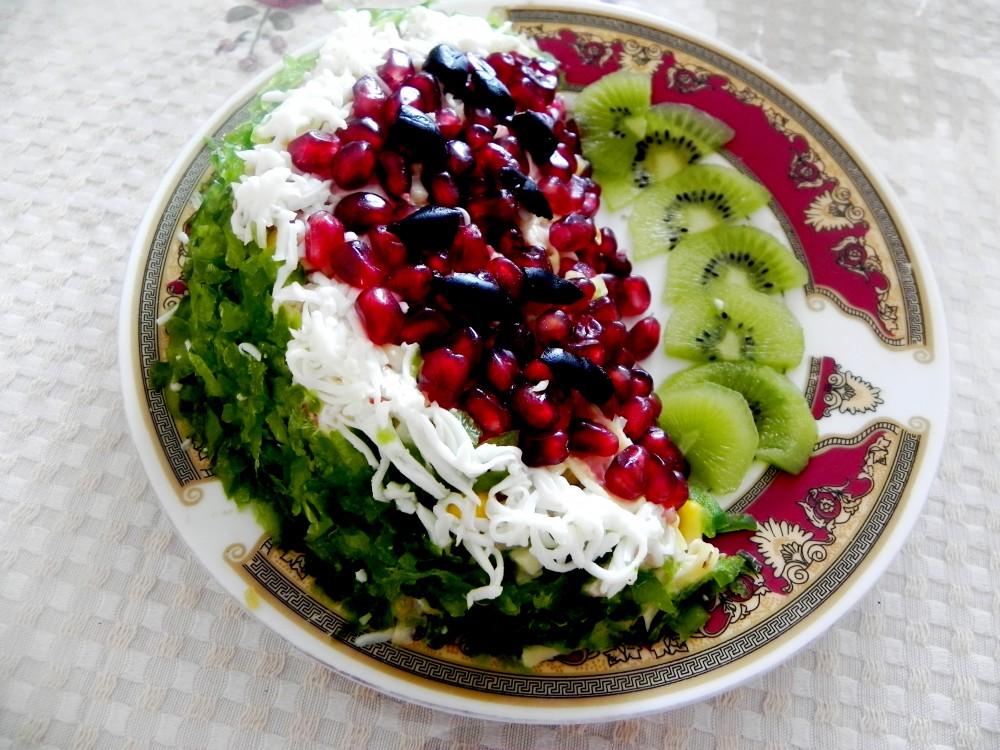 Жаңа жылдық мәзір: қарбыз тілігі атты салат