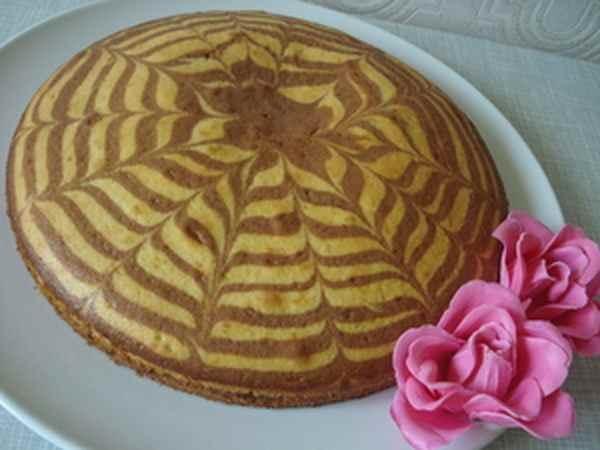 Как красиво сделать пирог зебру