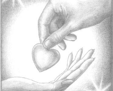 Рисованные в карандаше картинки про любовь