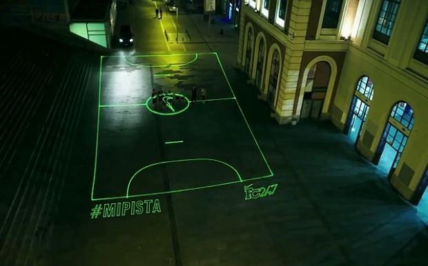 Nike жасаған лазерлі футбол алаңы