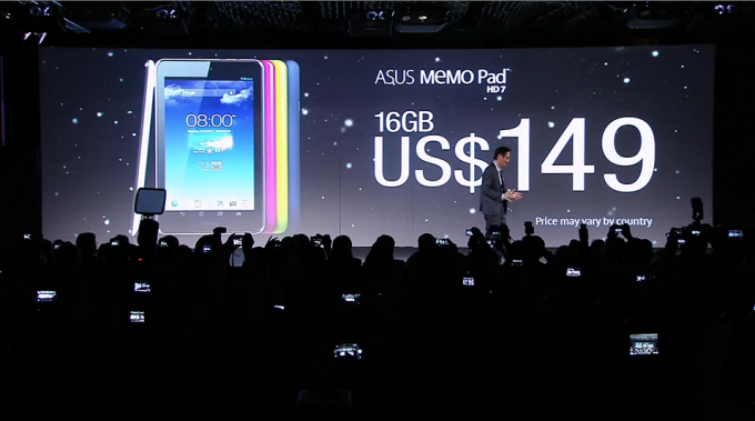 Asus MeMO Pad HD 7 — 149 $ тұратын жаңа планшет
