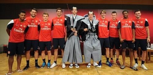 """""""Арсенал"""" ойыншылары самурай рөлінде"""