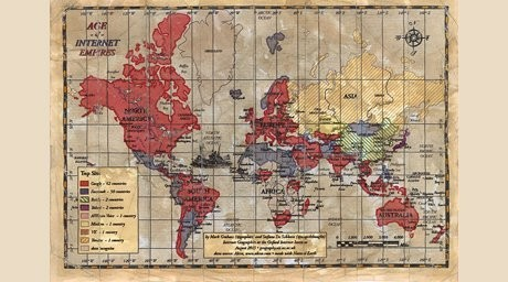 Интернет-империяларының картасы жарыққа шықты