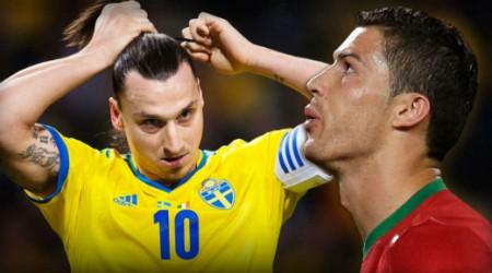Ибрагимович VS Роналду