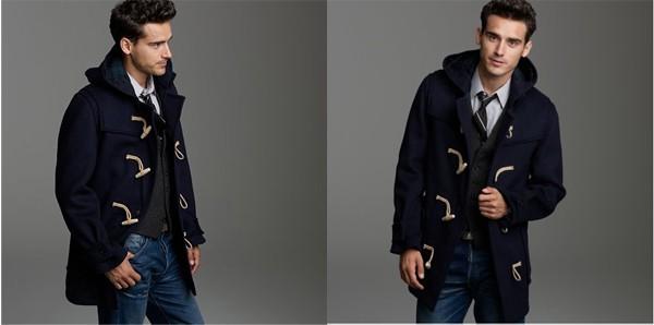 Сәнді ерлер пальтосы