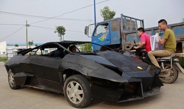 Металл сынықтарынан жасалған Lamborghini Reventon суперкары