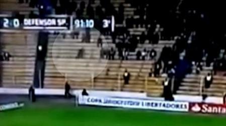 Футбол матчы кезінде көрермендердің зәресін алған елес
