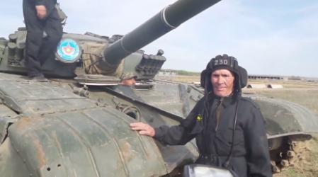 88 жастағы ардагер заманауи танкімен оқ атты