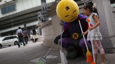 Токиода тазалықты сүйетін қаһарман пайда болды