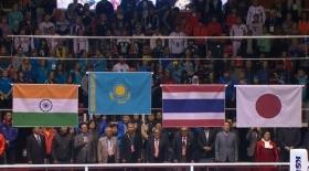 Оңтүстік Кореядағы әлем чемпионатында ескі Әнұранымыз шырқалды (видео)