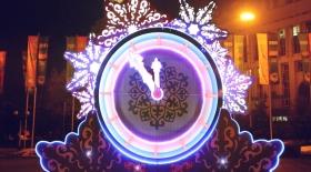 Жаңа жыл қарсаңындағы Алматы (Видео)