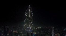 Жаңа жыл 2015: Дубайдағы мерекелік салют (Видео)