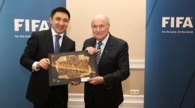 Қазақстан футбол федерациясының президенті ФИФА басшысымен кездесті