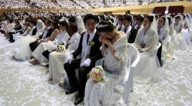 Оңтүстік Кореяда ерекше некелесу рәсімі өтті