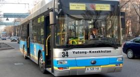 Алматыда автобустар арнайы жолақтармен ғана жүретін болады
