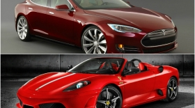 Tesla электромобилі Ferrari көлігін басып оза ала ма? (видео)