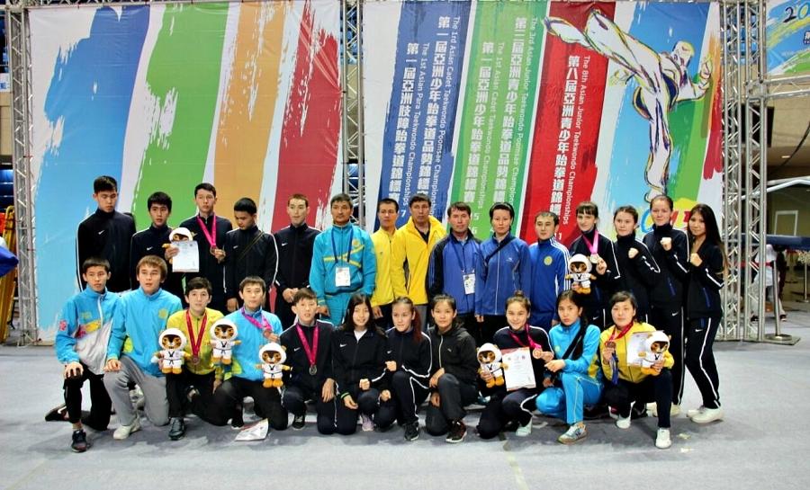 Қазақстандық жас таеквондашылар Азия чемпионатында сәтті өнер көрсетті
