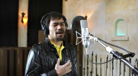 Мэнни Пакьяо өз әніне бейнебаян түсірді (видео)