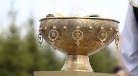 «ҚХА – 20 ізгі іс» эстафетасының нышаны - Тайқазан музей қорына табыс етіледі