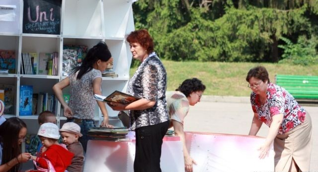 Алматыдағы көшпелі кітапхана