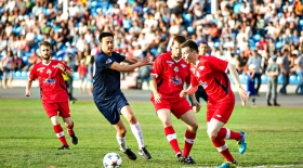 Футболдан қазақстандық өнер жұлдыздары ресейлік әріптестерін ұтты