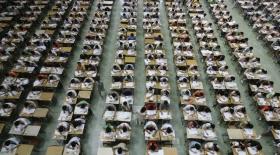 Қытай оқушыларын дрондар бақылайды