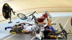 Астанадағы әлем чемпионатында велоспортшылар жаппай құлады (видео)