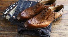 Ерлер гардеробы: туфли таңдау