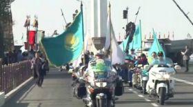 Қазақ хандығының 550 жылдығына мотошерушілер келіп жетті