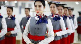 Қытай стюардессалары қалай жаттығады?