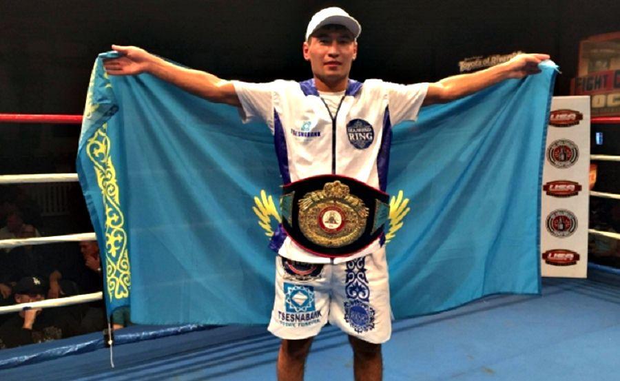 Бекман Сойлыбаев алғашқы чемпиондық белбеуін жеңді