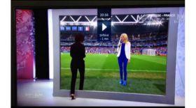 Тележүргізуші тікелей эфирде футбол алаңына өтіп кетті (Видео)