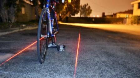 Велосипедистерді түн ішінде жүргенде қорғайтын лазер