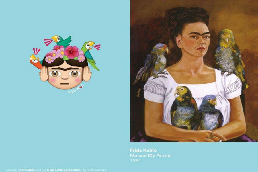 Атақты суретші Фрида Калоның картиналары бойынша эмодзи жасалды