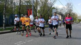 Алматыда марафон өтіп жатыр