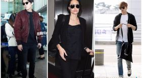 Анджелина Джоли, Ли Мин Хо, Димаш Құдайберген: Airport style