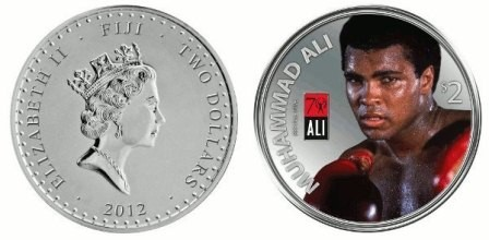 Мұхаммед Әлиге арналған екі долларлық тиын шықты