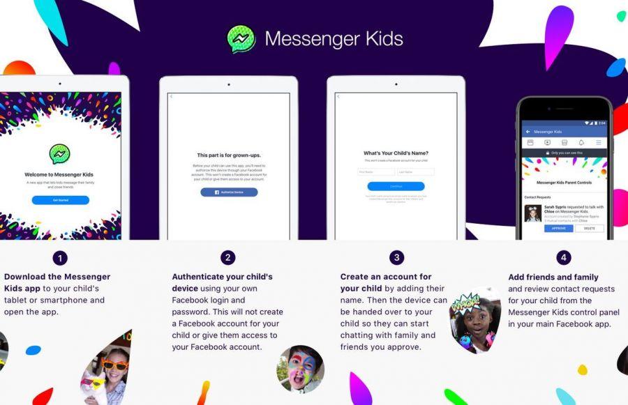 Facebook балалар мессенджерін іске қосты