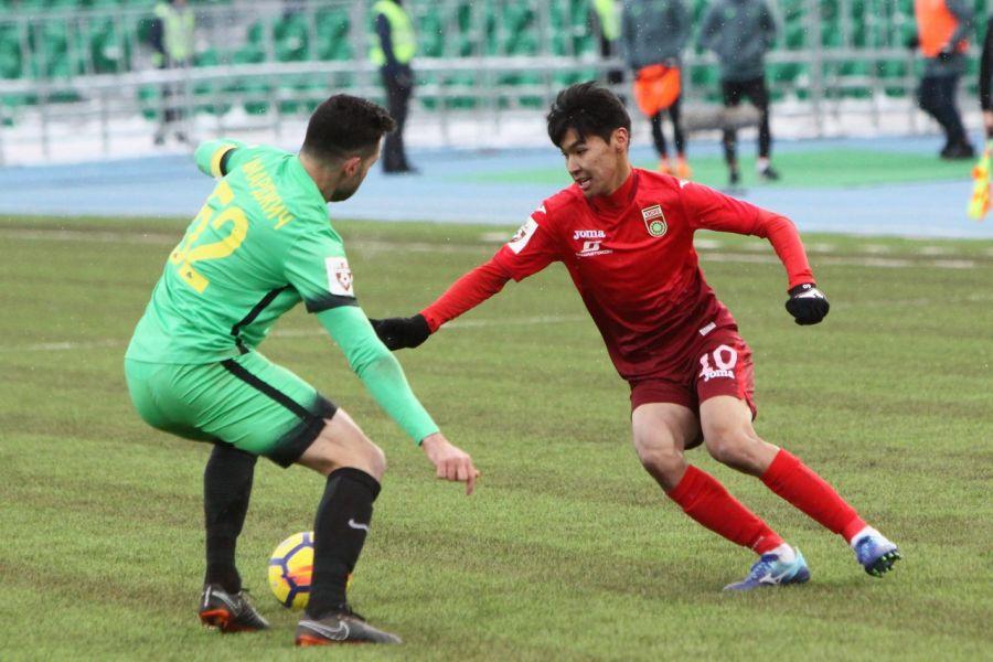 Еркебұлан Сейдахмет Ресей премьер-лигасындағы алғашқы ойынына қатысты