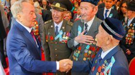 Нұрсұлтан Назарбаев қазақстандықтарды Жеңіс күнімен құттықтады