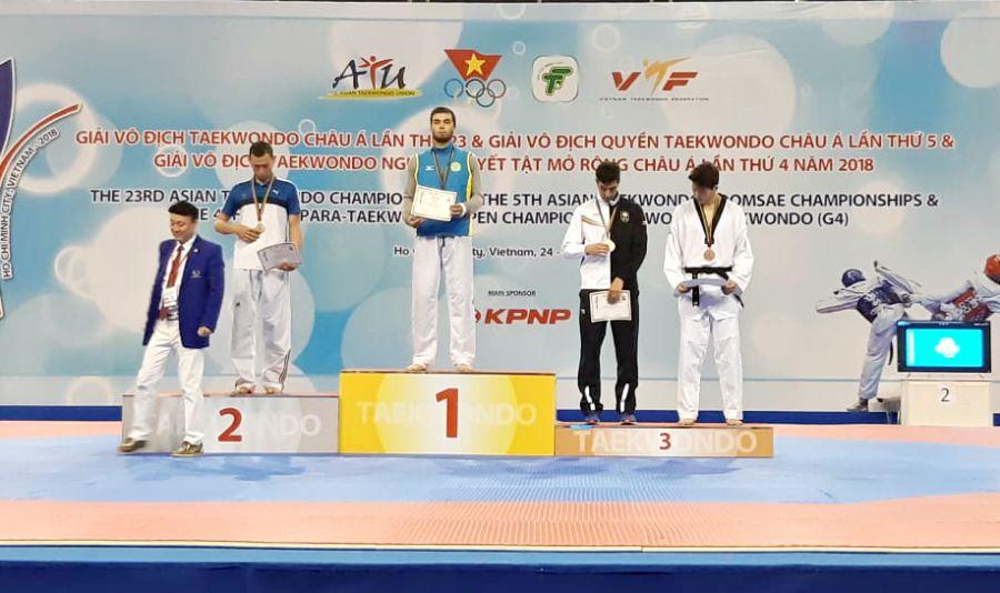 Қазақстандық таеквондошылар Азия чемпионатында 4 жүлде еншіледі