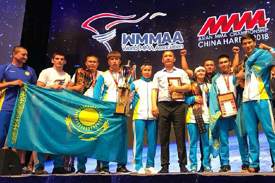 ММА-ден өткен Азия чемпионатында Қазақстан құрамасы 1-орынды жеңіп алды