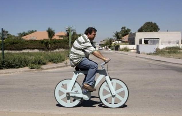 Картоннан велосипед жасалды