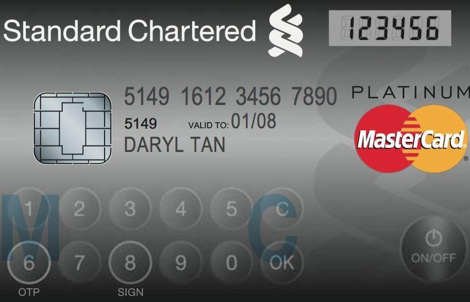 MasterCard дисплейлі пластикалық карта шығарды