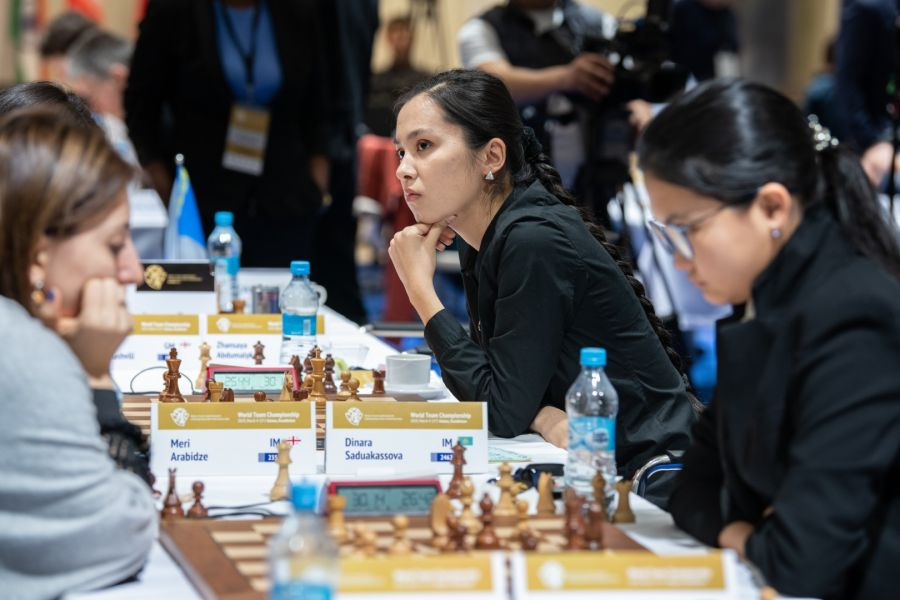 Шахматтан командалық әлем чемпионатында қазақ қыздары 5-орын алды
