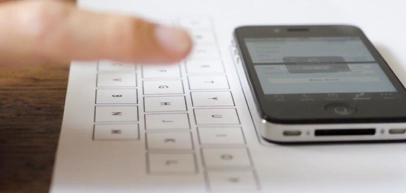 Үстелден iPhone-ға арналған пернетақта жасауға болады екен