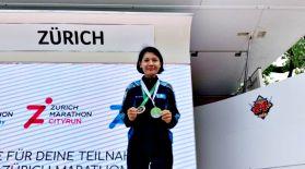 Қазақстандық спортшы қыз Цюрихтегі марафонда үшінші орын алды