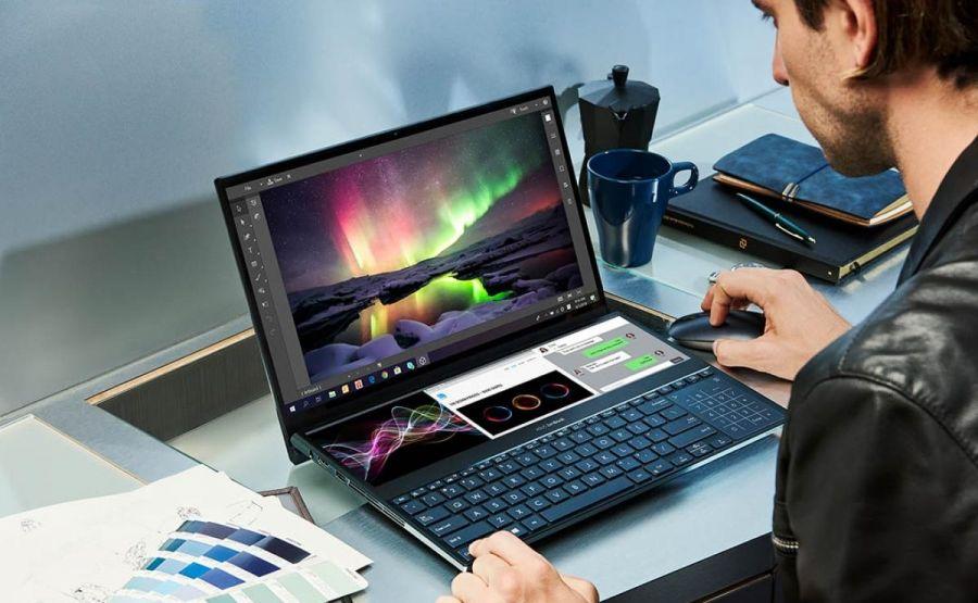 Asus екі бірдей 4К экраны бар ноутбук шығарады