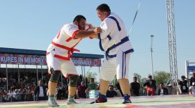 ШҚО-да қазақша күрестен халықаралық турнир өтті