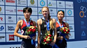 Қазақстандық спортшы триатлоннан Азия Кубогін жеңіп алды
